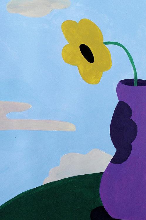 PEINTURE ORIGINALE (A4), Fleur dans Vase