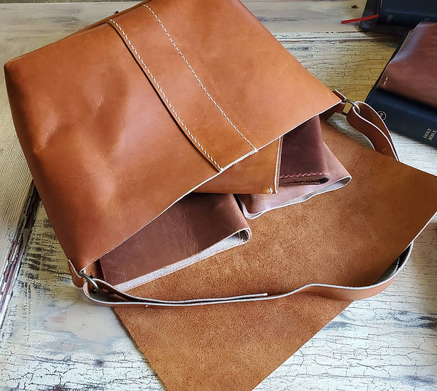 Large purse in Copper Legend Leather