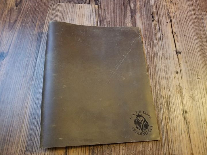 Preacher Dark Brown Pull-Up Leather in large letter size
