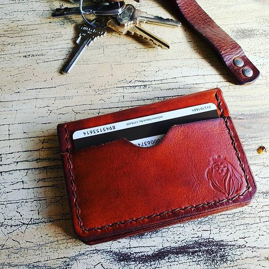 5 card Bifold in Premium Veg Tan Leather