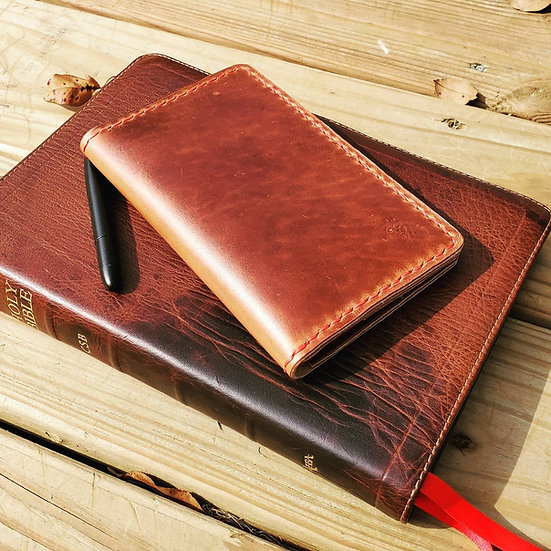 Field Notes/Passport Wallet in Whiskey Horween Leather