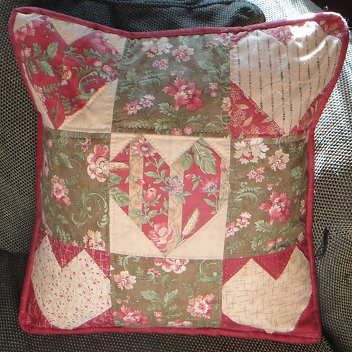 Heart 9-Patch Pillow