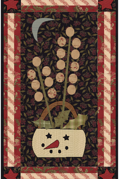 Snowman Basket Wallhanging-D