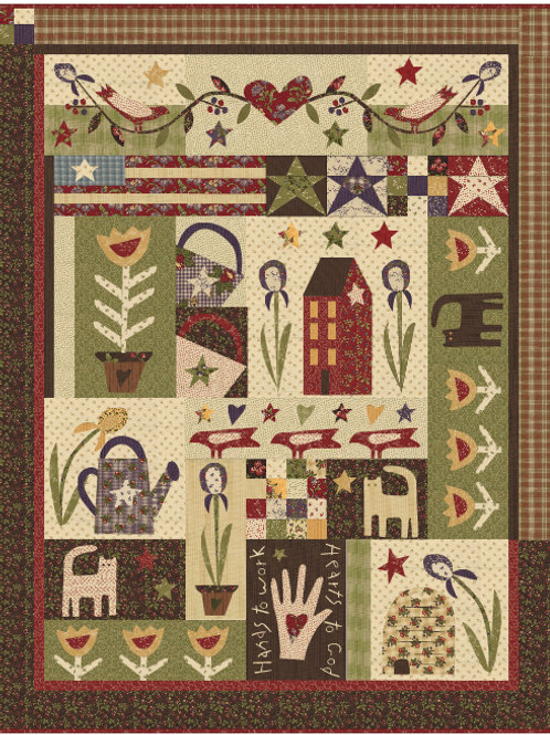 Audra's Iris Garden BOM Pattern