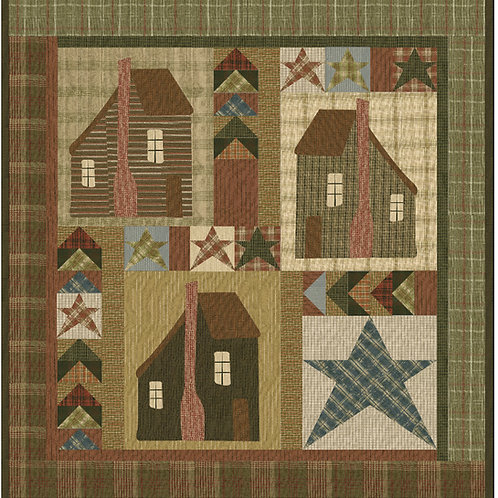 3 Cabins digital pattern