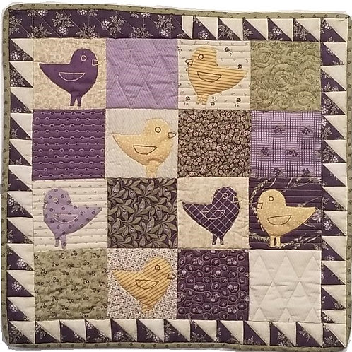 Little Lavender Chicken Bird Quilt kit