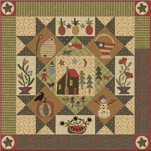 Cabin In The Pines BOM Pattern