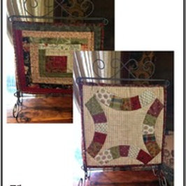 Double Wedding Ring Table Stand mini quilt pattern