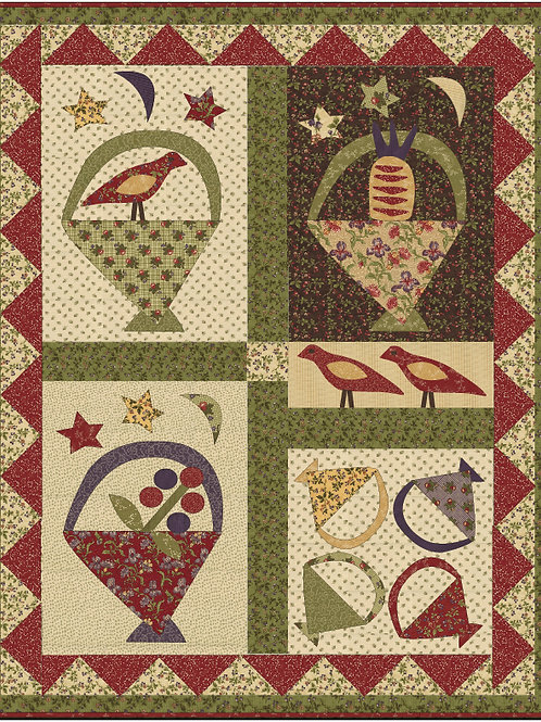 Birds, Berries & Baskets digital pattern