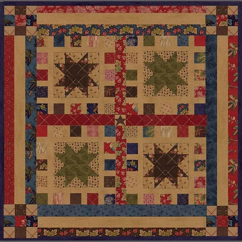 Jelly Roll Stars & Squares pattern