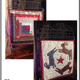 March Hare/Log Cabin Table Stand Mini Quilt pattern