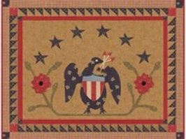 American Eagle wallhanging/tablerunner digital pattern