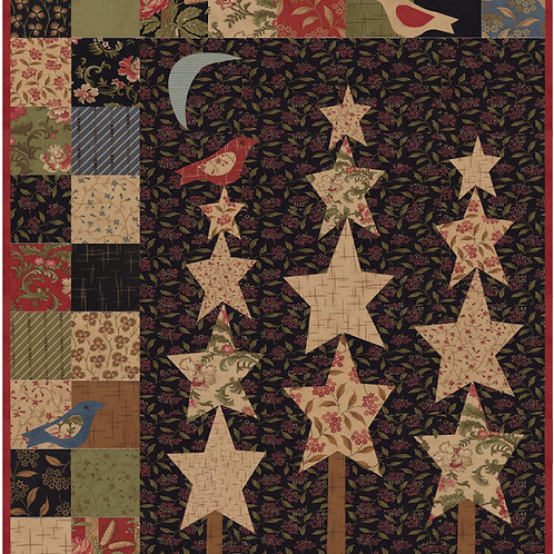 Snowbirds & StarTrees digital pattern