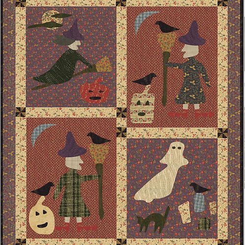 Windmills & Witches pattern