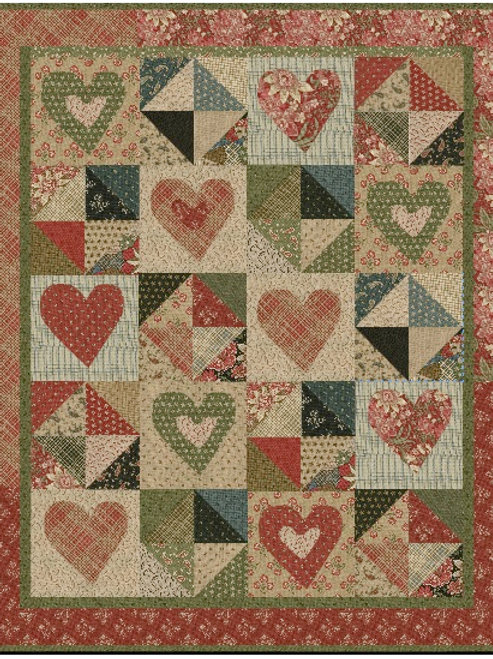 Lilly's Hearts & Stars Quilt Pattern