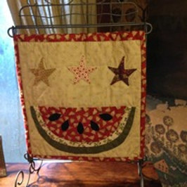 Watermelon Table Stand Mini Quilt pattern