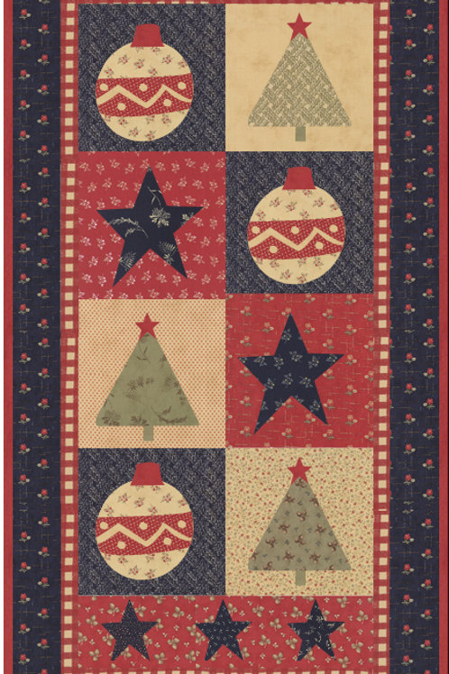 Star Spangled Christmas digital pattern