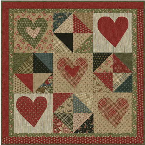 Lilly's Hearts Mini Quilt Pattern