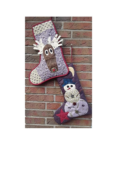Olive..the other reindeer & Snowman Christmas Stocking kits