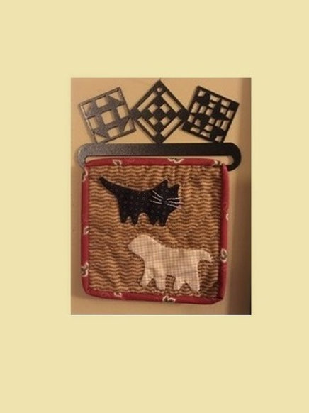 "6"" Blockheads Dog & Cat block w/hanger"