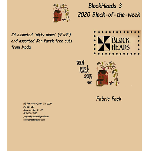 MODA Blockheads 3 fabric pack