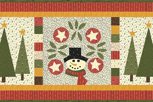 Snowman Table runner pattern