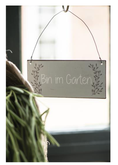 "Metallschild ""Bin im Garten"" Ib Laursen"