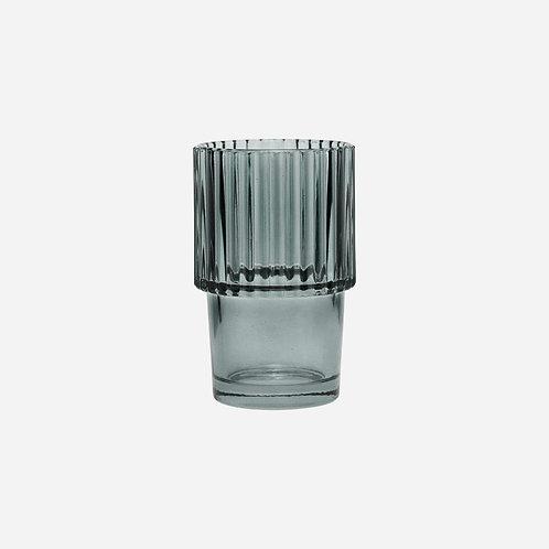 Trinkglas, 4er Set Rills, Rauchgrau House Doctor