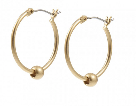 Sence Essential Ball Hoop Ohrring in Gold