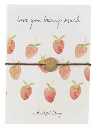 "Postkarte ""Strawberries"", a Beautiful story, fairtrade"