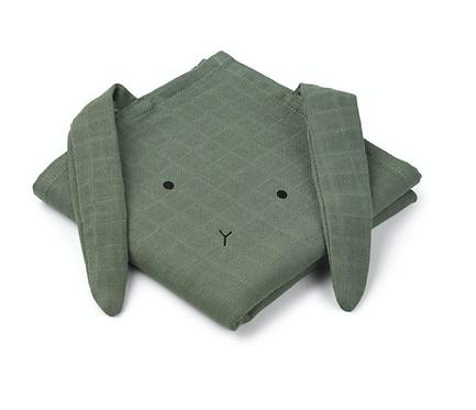 Liewood Hannah Cloth 2er Set - Rabbit faune green