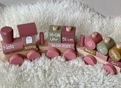 """Holzzug """"rosa"""" personalisiert - little Dutch"""