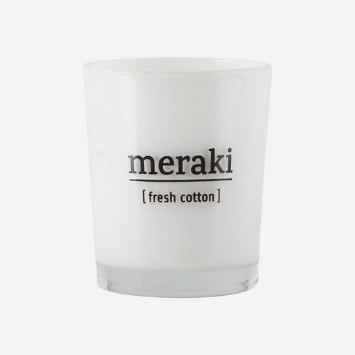 Duftkerze, Fresh cotton Meraki