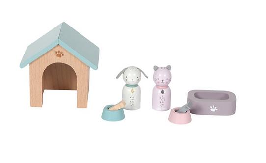 Puppenhaus – Spielset Haustiere - 8-teilig litte Dutch