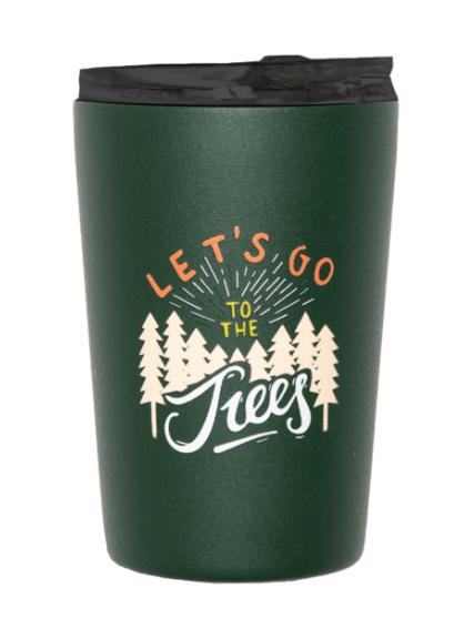 Roadtyping Isolierter Edelstahl Kaffee Becher - Let´s go to the trees