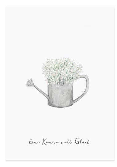 Postkarte Kanne von Glück von Eulenschnitt