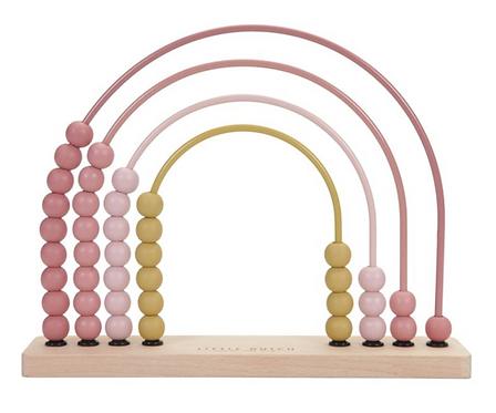 Little Dutch Holz-Abakus - Regenbogen pink