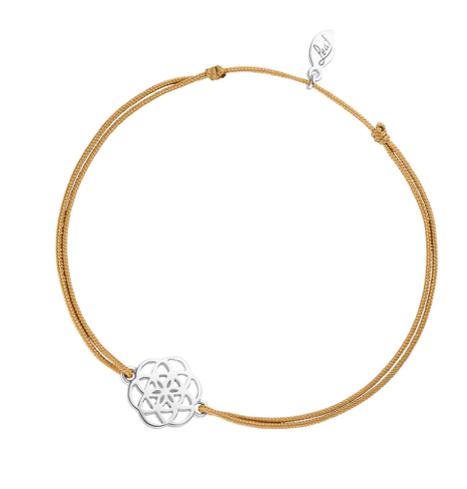 Glücksbändchen Flower of Life, 925 Sterlingsilber