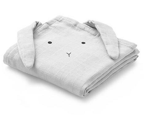Liewood Hannah Cloth 2er Set - Rabbit dumbo grey