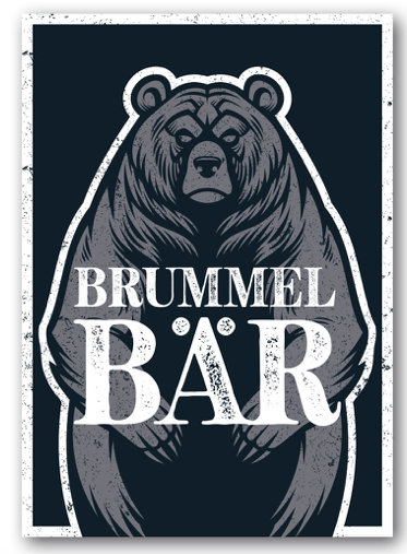 Grusskarte Brummelbär - Nukaart