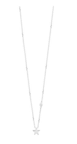 Halskette Stern mit Perle, 925 Sterlingsilber