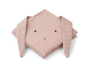 Liewood Hannah Cloth 2er Set - Rabbit rose