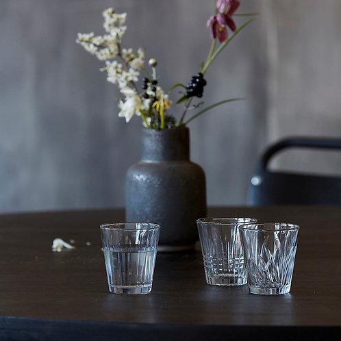 Trinkglas - 6er Set Glas, Vintage, Klar von House Doctor