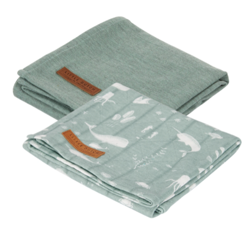 Little Dutch Swaddle Tuch 70x70cm ocean mint
