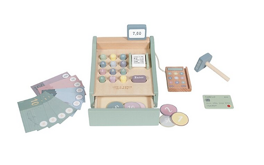 Little Dutch - Holz Spielkasse mit Scanner