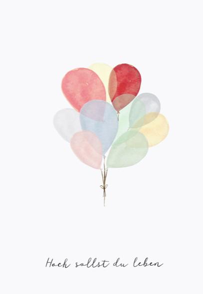 Eulenschnitt Postkarte Luftballon