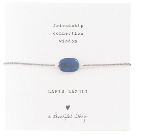 Gemstone Card Lapis Lazuli Silver Bracelet, a Beautiful story, fairtrad