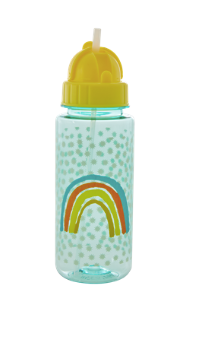 "Rice Kinder Trinkflasche ""Rainbow and Stars"" green"