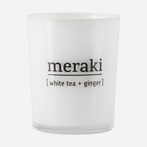 Duftkerze, White tea & ginger Meraki