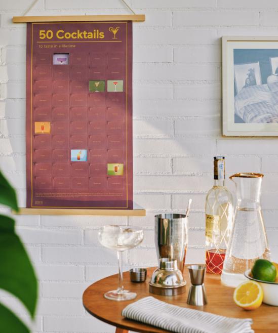 Poster DOIY Design -50 Cocktails To Taste In A Lifetime